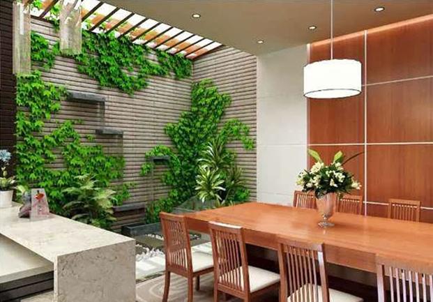 Một góc giếng trời mang thiên nhiên vào nhà